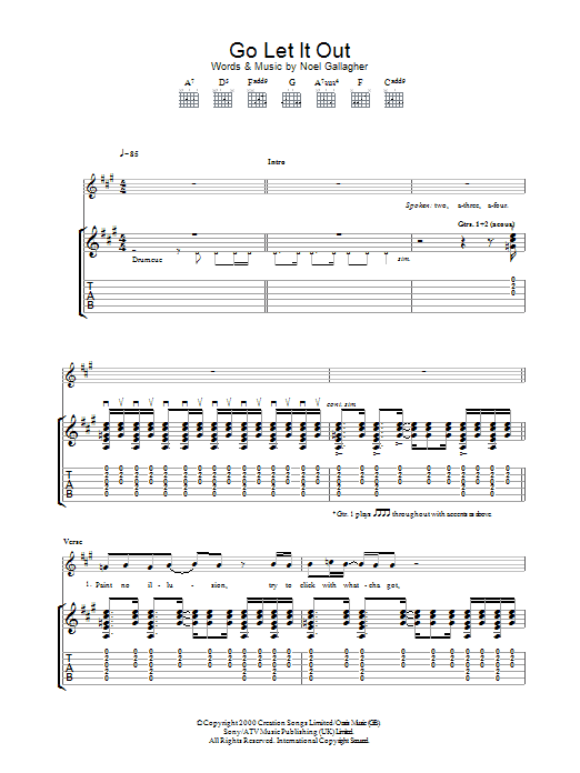 Go Let It Out Sheet Music