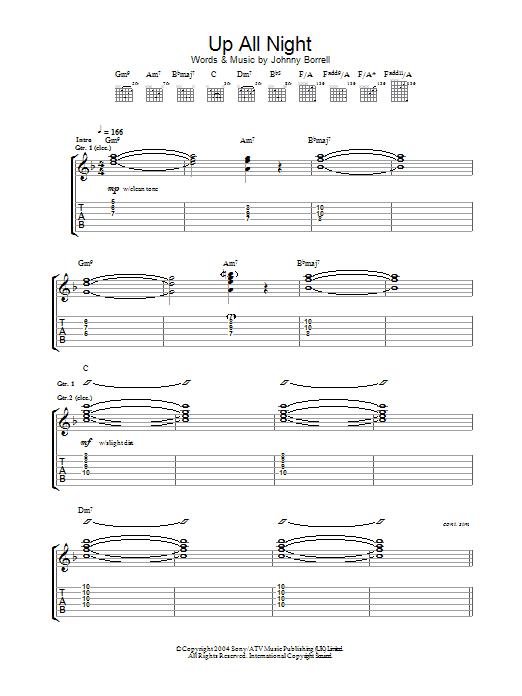 Up All Night (Guitar Tab)