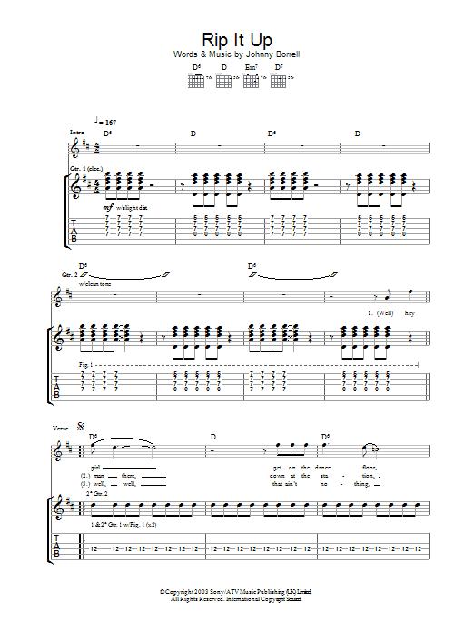 Rip It Up (Guitar Tab)