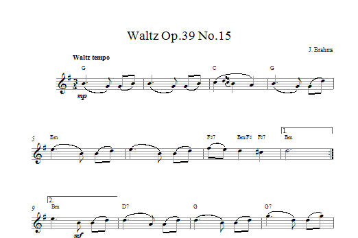 Waltz Op.39 No.15 Sheet Music