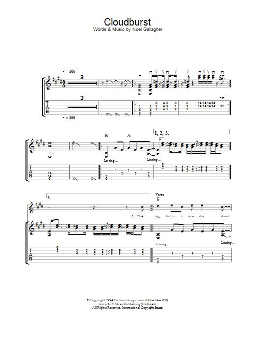 Cloudburst (Guitar Tab)