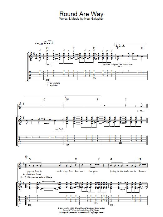 Round Are Way (Guitar Tab)