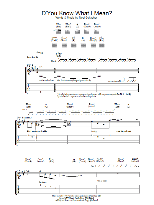 D'You Know What I Mean? (Guitar Tab)