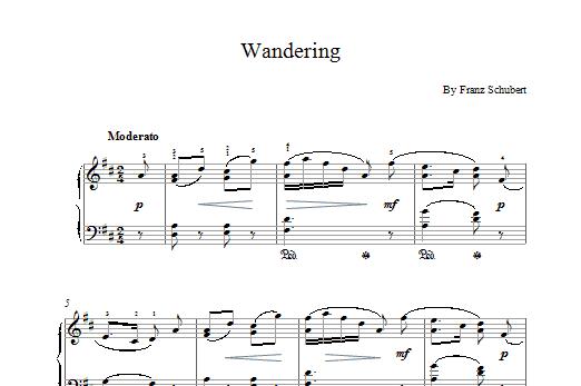 Wandering Sheet Music