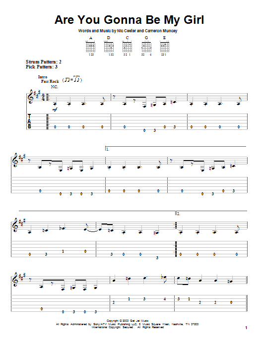 Are You Gonna Be My Girl by Jet - Easy Guitar Tab - Guitar Instructor