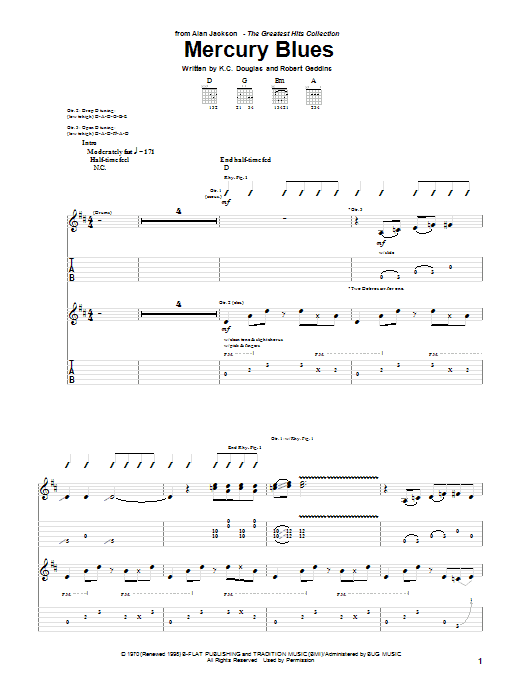 Mercury Blues Sheet Music