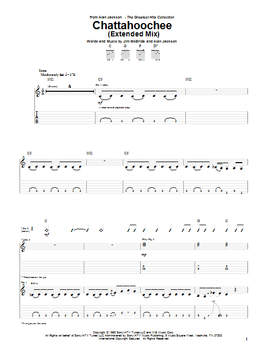 Chattahoochee Sheet Music