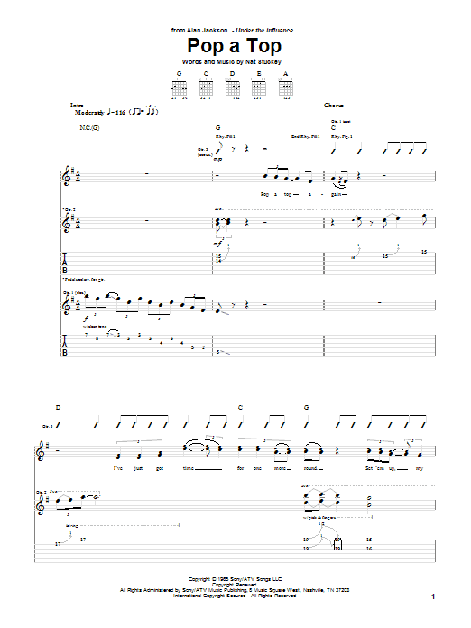 Pop A Top (Guitar Tab)