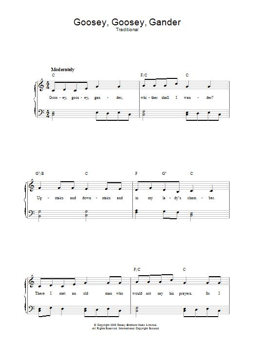 Goosey Goosey Gander (Piano, Vocal & Guitar)