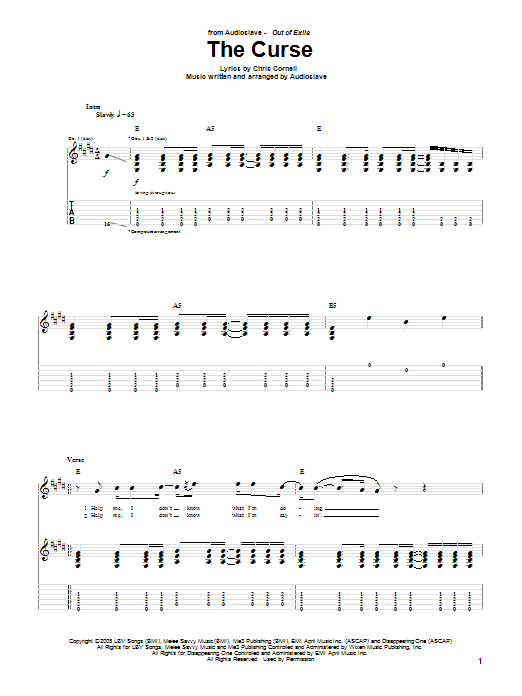 The Curse (Guitar Tab)