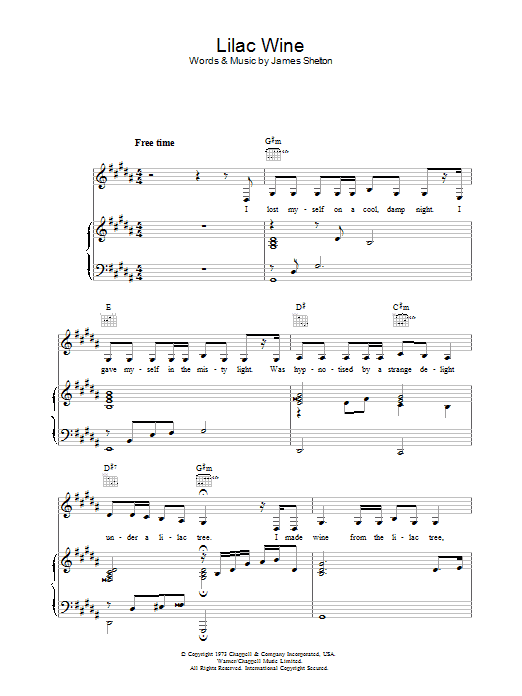 Lilac Wine Katie Melua Piano Vocal Guitar