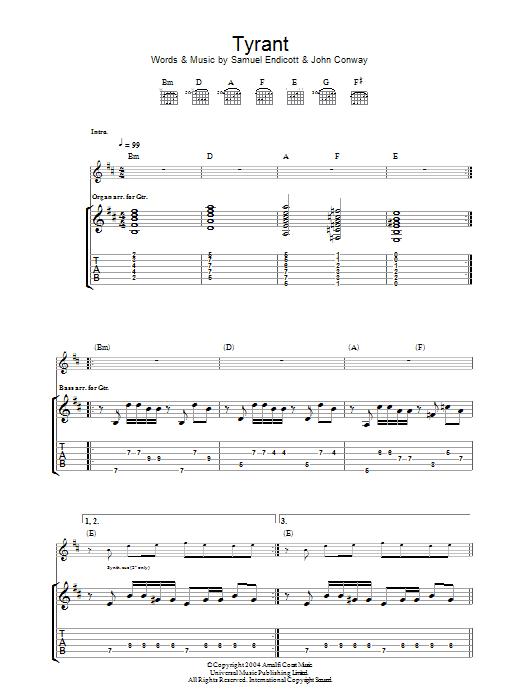 Tyrant (Guitar Tab)