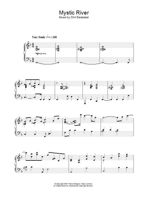Mystic River (main theme) (Piano Solo)