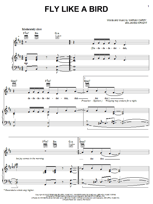 Fly Like A Bird Sheet Music