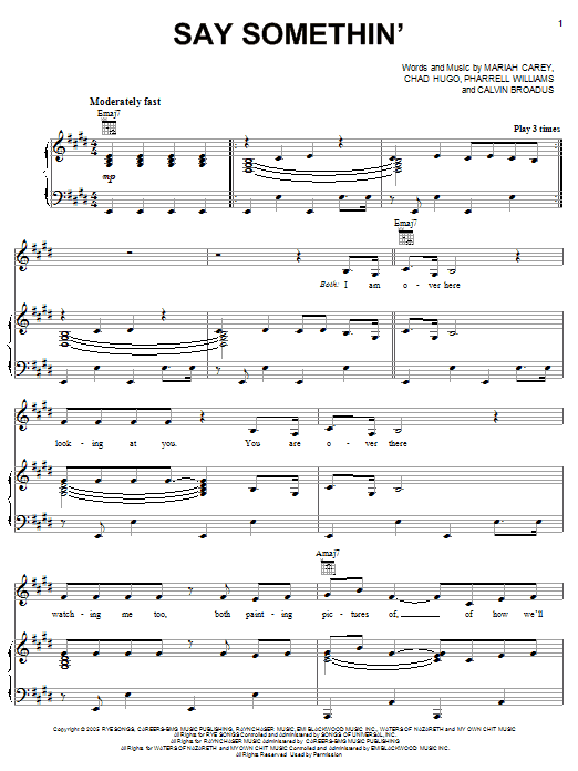 Say Somethin' Sheet Music