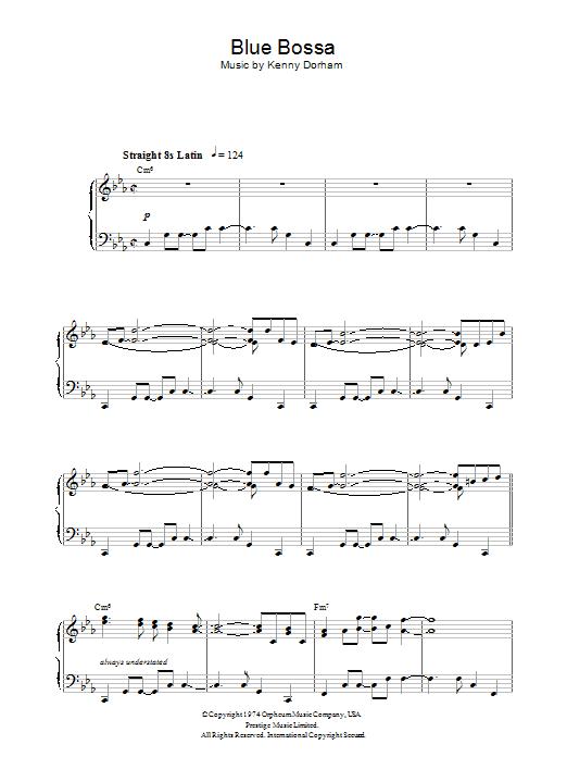 Blue Bossa (Piano Solo)