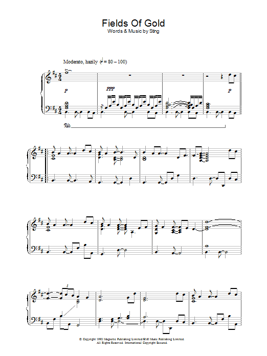 Fields Of Gold (Piano Solo)