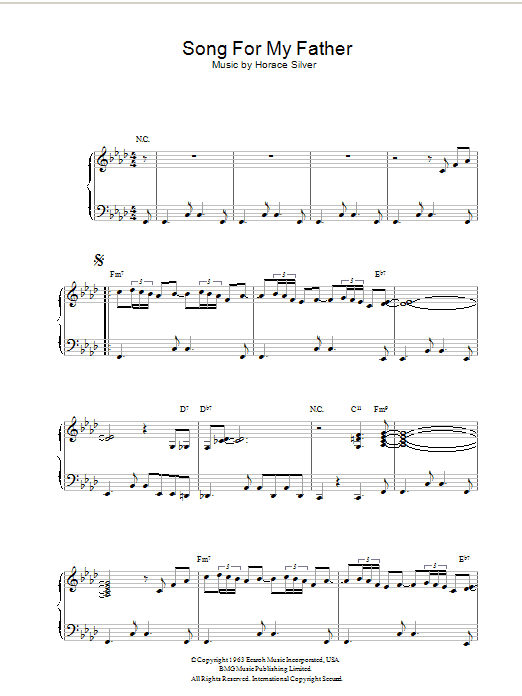 Song For My Father Sheet Music