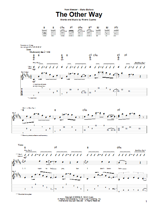 The Other Way Sheet Music