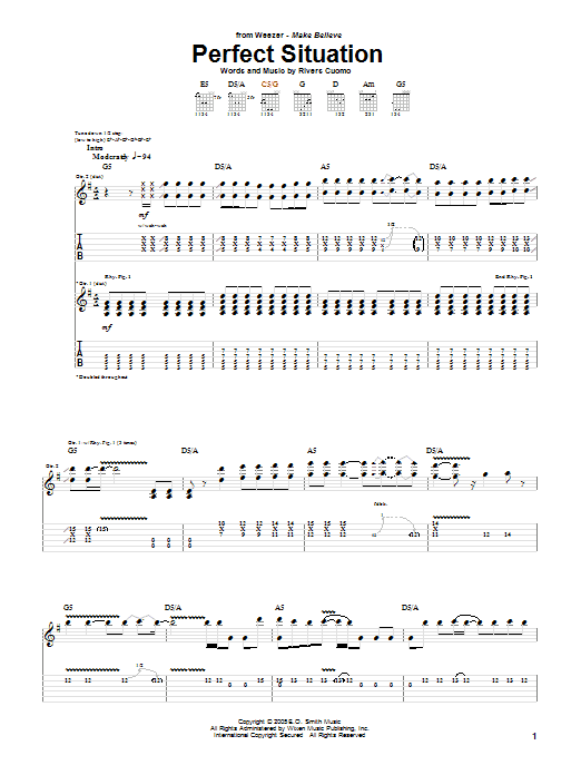 Perfect Situation Sheet Music