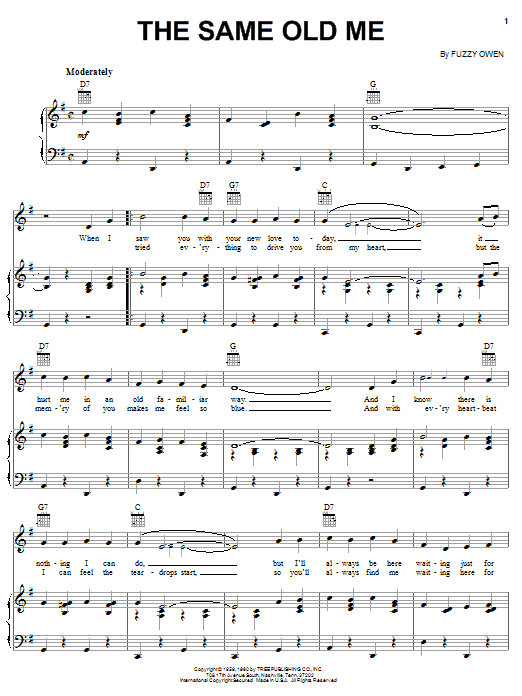 The Same Old Me (Piano, Vocal & Guitar (Right-Hand Melody))