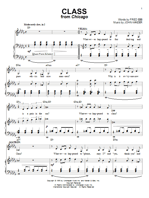 Class (Piano & Vocal)