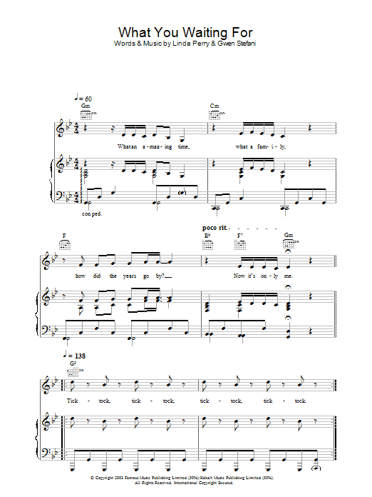 What You Waiting For? Sheet Music