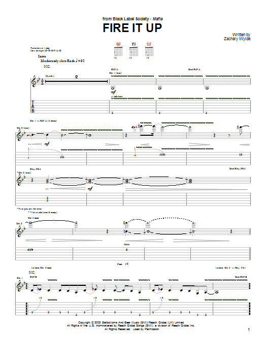 Fire It Up Sheet Music