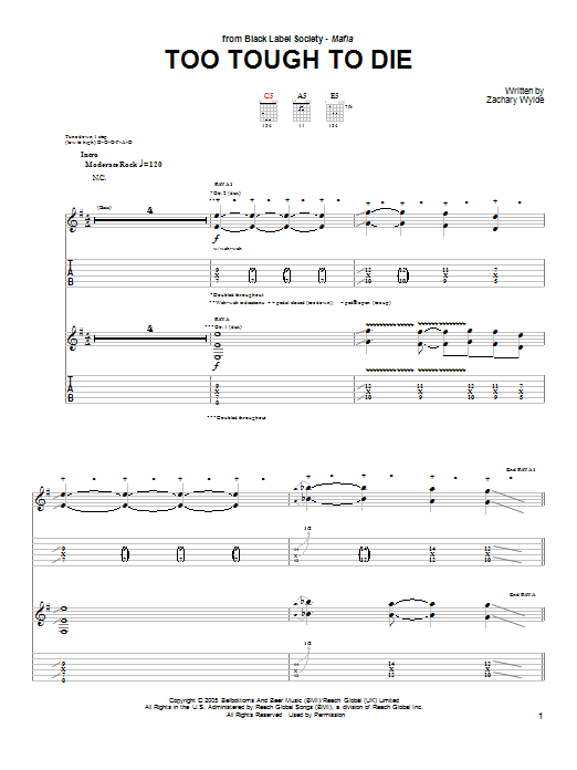 Too Tough To Die Sheet Music