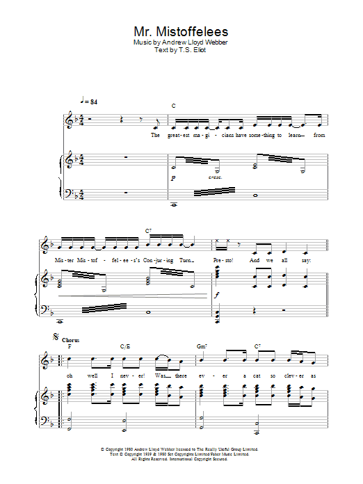Mr. Mistoffelees (from Cats) Sheet Music