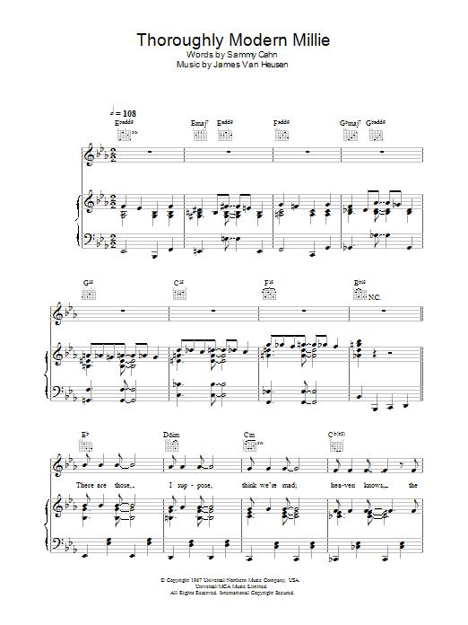 Thoroughly Modern Millie Sheet Music