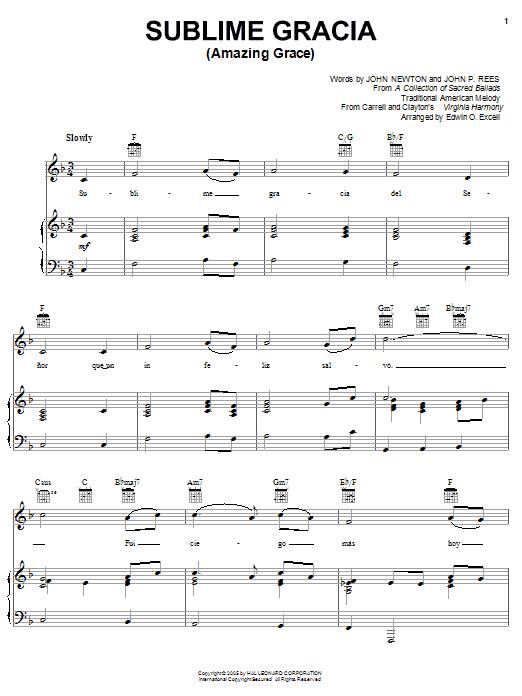 Sublime Gracia (Amazing Grace) Sheet Music