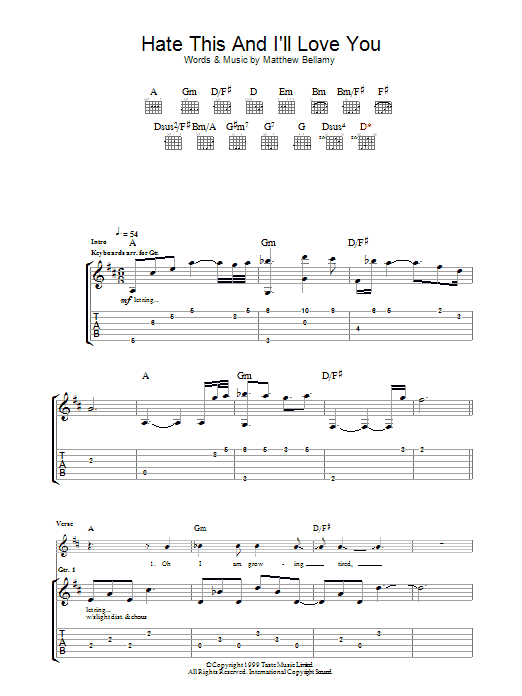 Hate This & I'll Love You Sheet Music