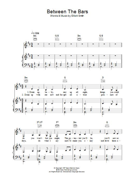 Between The Bars Sheet Music | Madeleine Peyroux | Piano, Vocal ...