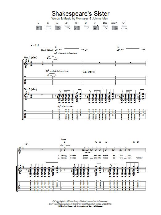 Shakespeare's Sister Sheet Music