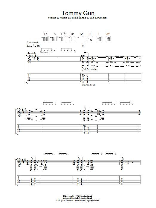 Tommy Gun (Guitar Tab)