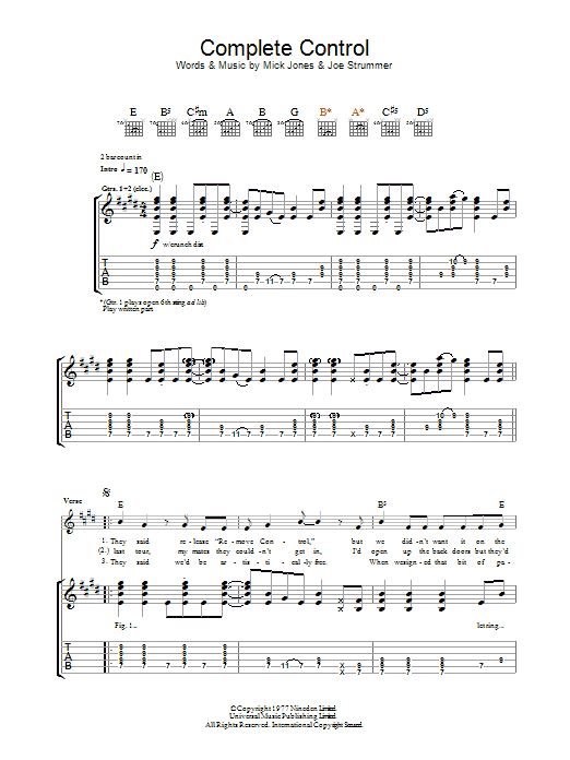 Complete Control (Guitar Tab)