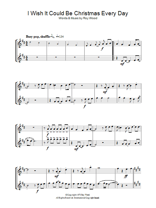 I Wish It Could Be Christmas Every Day Sheet Music