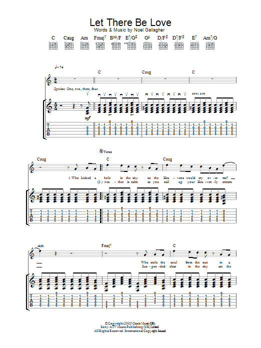 Let There Be Love (Guitar Tab)