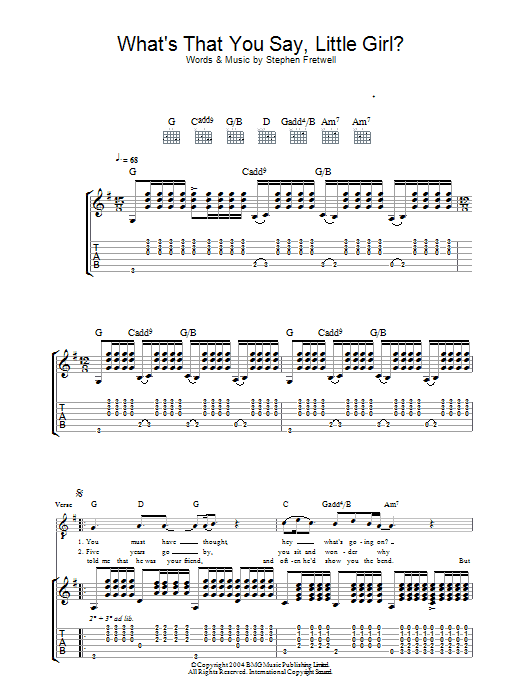 What's That You Say Little Girl? (Guitar Tab)