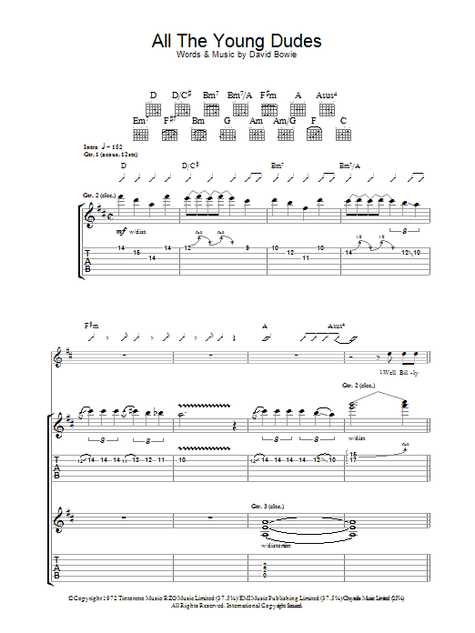 All The Young Dudes (Guitar Tab)