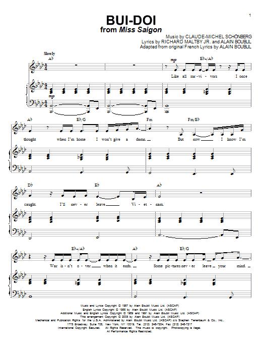 Bui-Doi (Piano & Vocal)