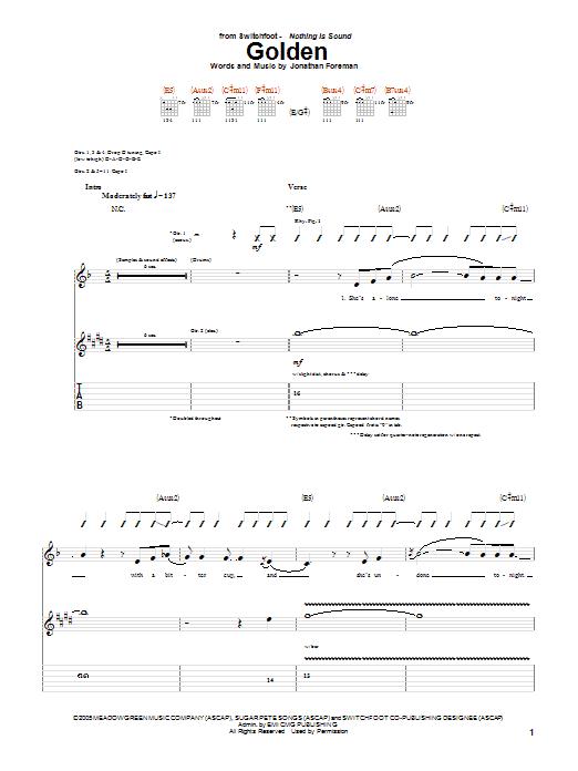 Golden (Guitar Tab)