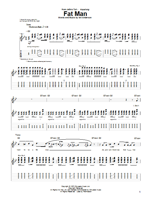 Fat Man Sheet Music