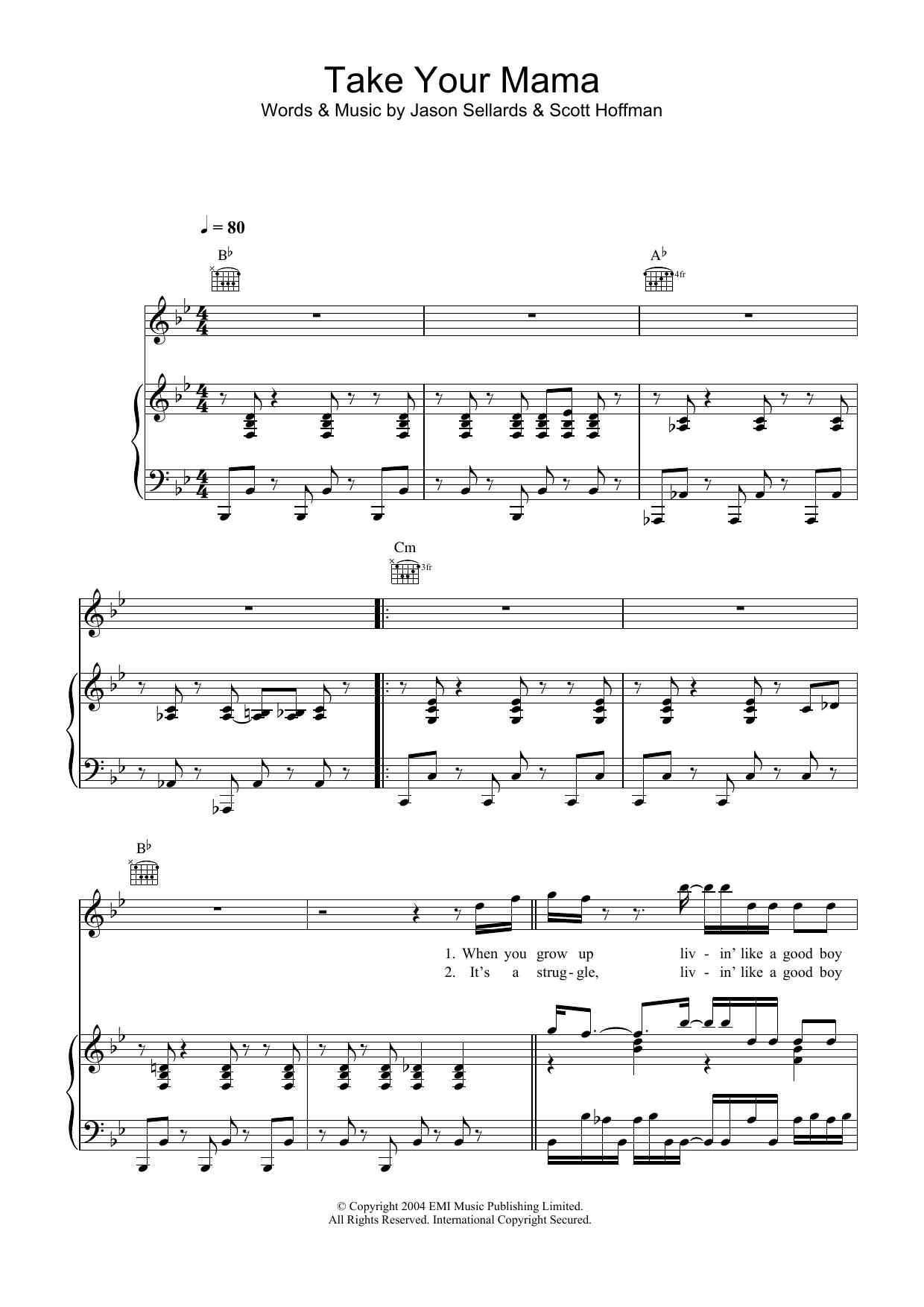 Take Your Mama (Piano, Vocal & Guitar)