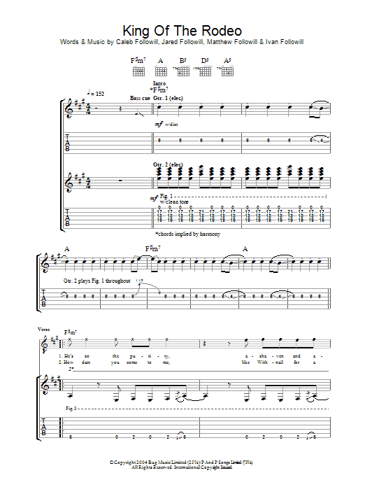 Electric Rodeo Guitar Chords : king of the rodeo by kings of leon guitar tab guitar instructor ~ Hamham.info Haus und Dekorationen