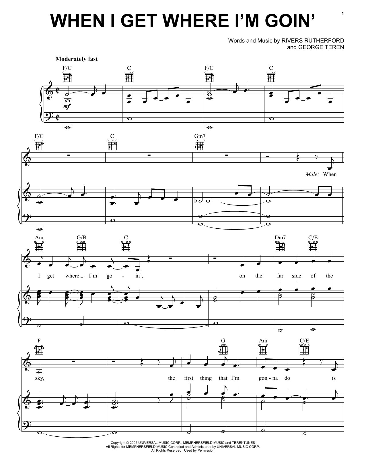 When I Get Where I'm Goin' Sheet Music