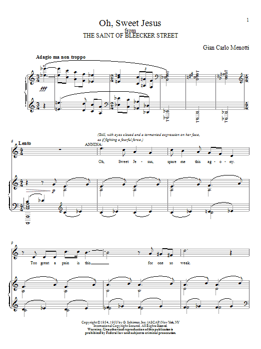 Oh, Sweet Jesus Sheet Music
