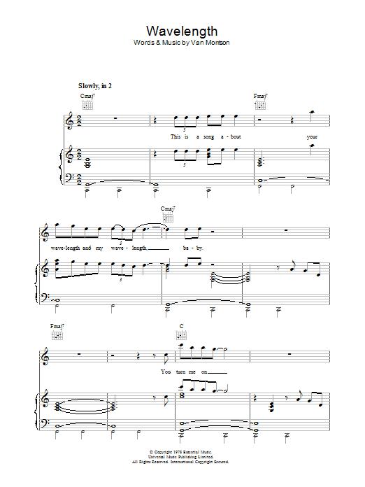 Wavelength Sheet Music