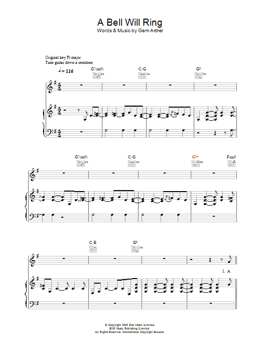 A Bell Will Ring Sheet Music